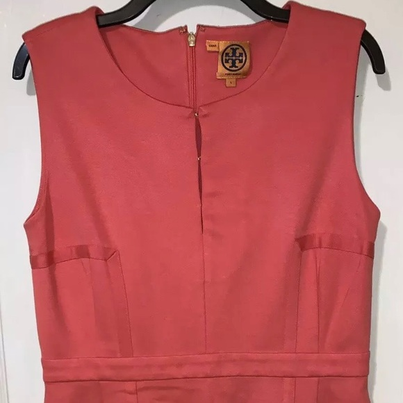 Tory Burch Dresses & Skirts - Tory Burch coral ponte knit dress Size Large